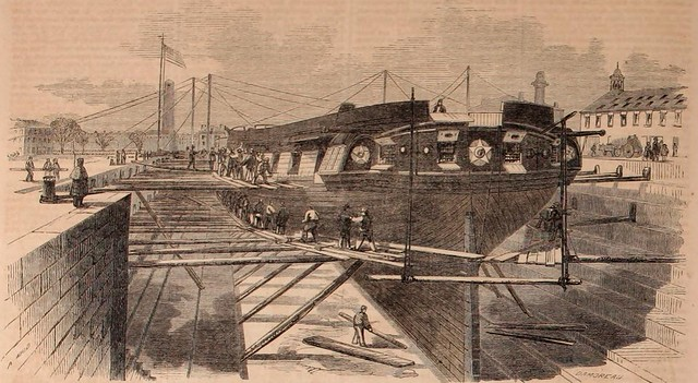Ballou's USS Constellation in 1859.