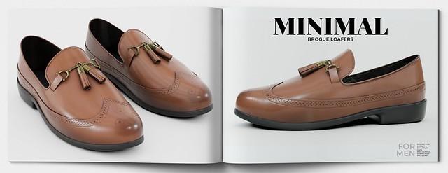 MINIMAL - Brogue Loafers