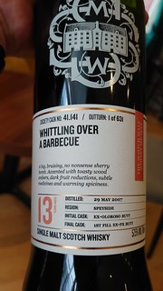 SMWS 41.141 - Whittling over a barbecue
