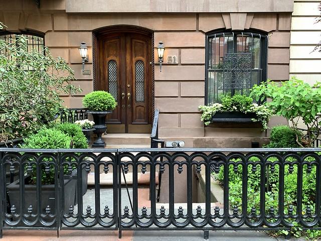 Fenced in: West 9th Street, Greenwich Village, New York