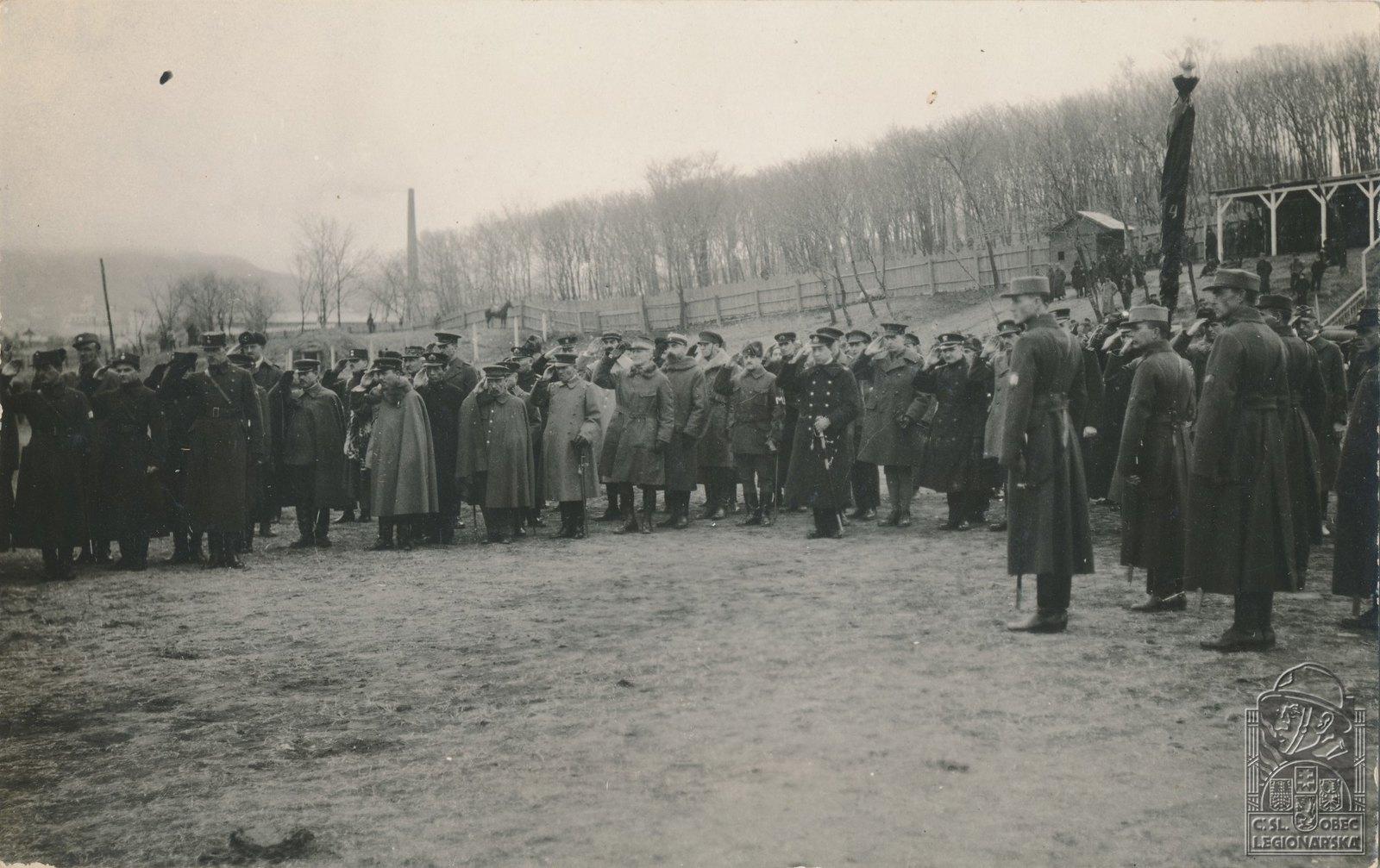 1920. Депутация союзных войск при проводах 4-го чехословацкого полка