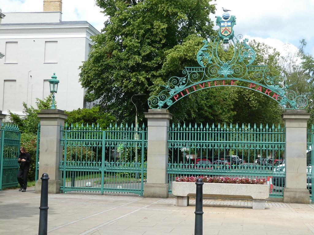 Entrance gates to Pittville Park, Cheltenham
