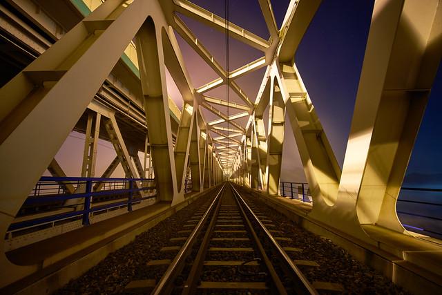 Wideangle Train Bridge