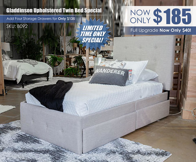 Gladdinson Upholstered Twin Bed Special_B092
