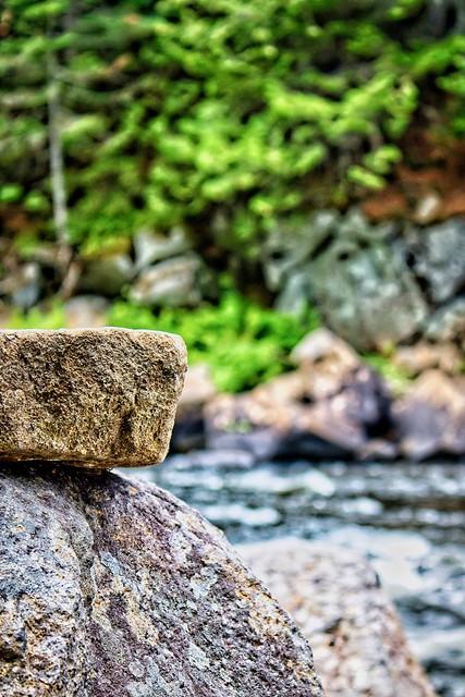 a close up of a rock