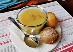 Hruškovo-bramborová polévka v hotelu Pilatus Kulm