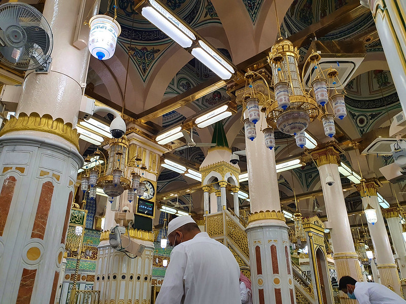 The Rawdah al-Sharifah in the Prophet's Mosque, Madinah, Saudi Arabia (2)