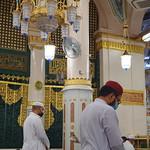 The Rawdah al-Sharifah in the Prophet's Mosque, Madinah, Saudi Arabia (1)