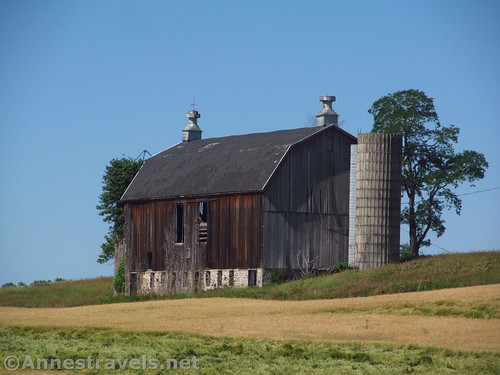 Close up of an old barn along Golah Road, West Rush, New York