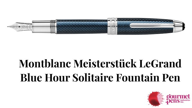 Montblanc Meisterstück LeGrand Blue Hour Solitaire Fountain Pen