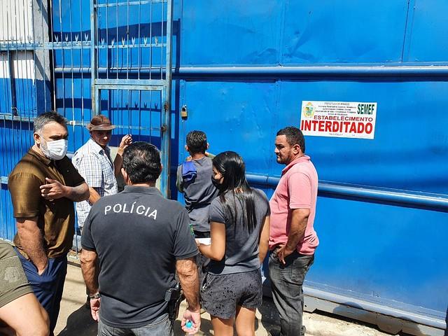 30.6.2021 - Prefeitura integra operação Hefesto contra o comercio ilegal de materiais e sucatas metálicas