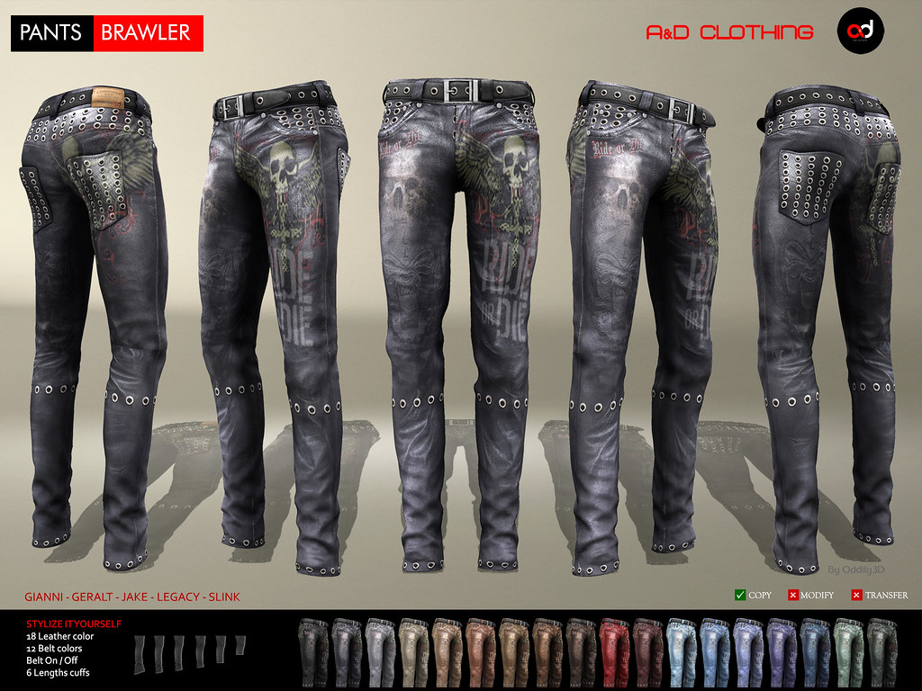 ! A&D Clothing – Pants -Brawler-  New Release