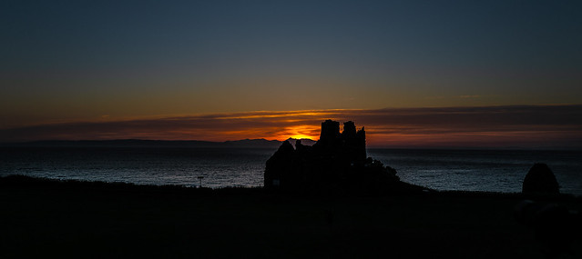 Sunset at Dunure Castle