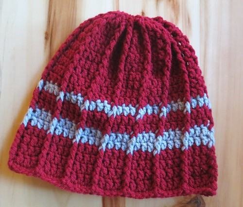 WSU Crocheted Cabled Hat