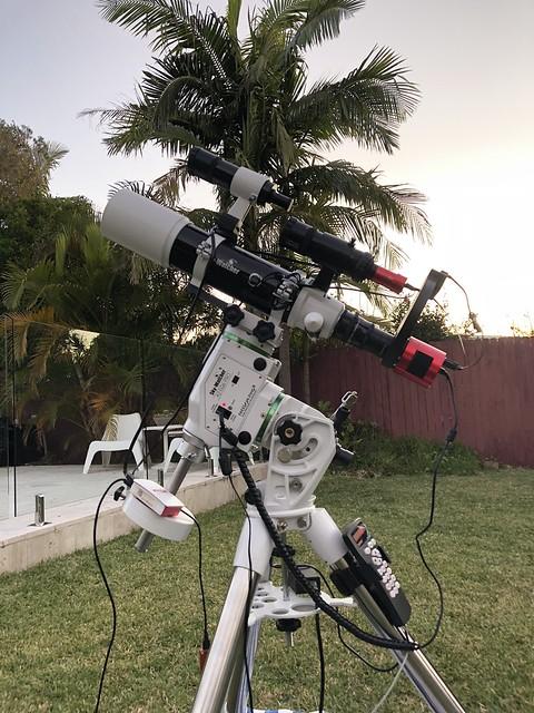 My amateur telescope equipment in April 2021