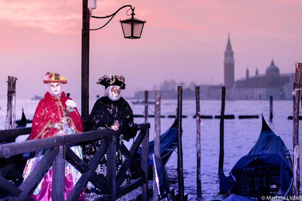 Rostros del Carnaval de Venecia.