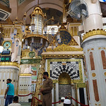 The Rawdah al-Sharifah in the Prophet's Mosque, Madinah, Saudi Arabia (4)