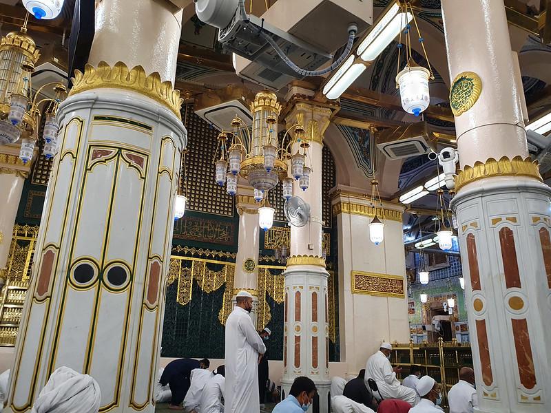 The Rawdah al-Sharifah in the Prophet's Mosque, Madinah, Saudi Arabia (3)