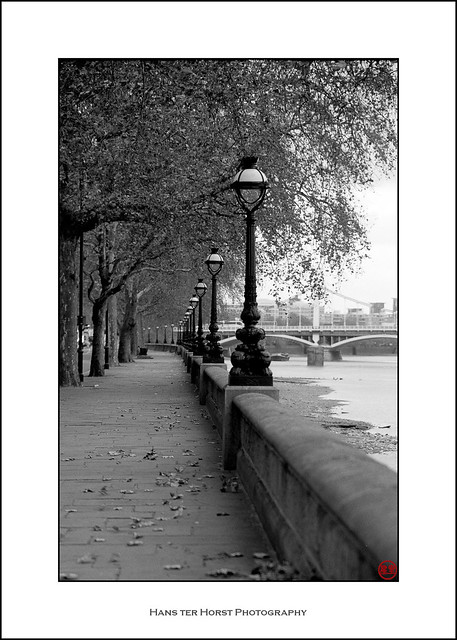 The embankments of the River Thames