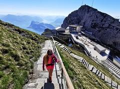 Schody na vrchol Oberhaupt (2 106 m)