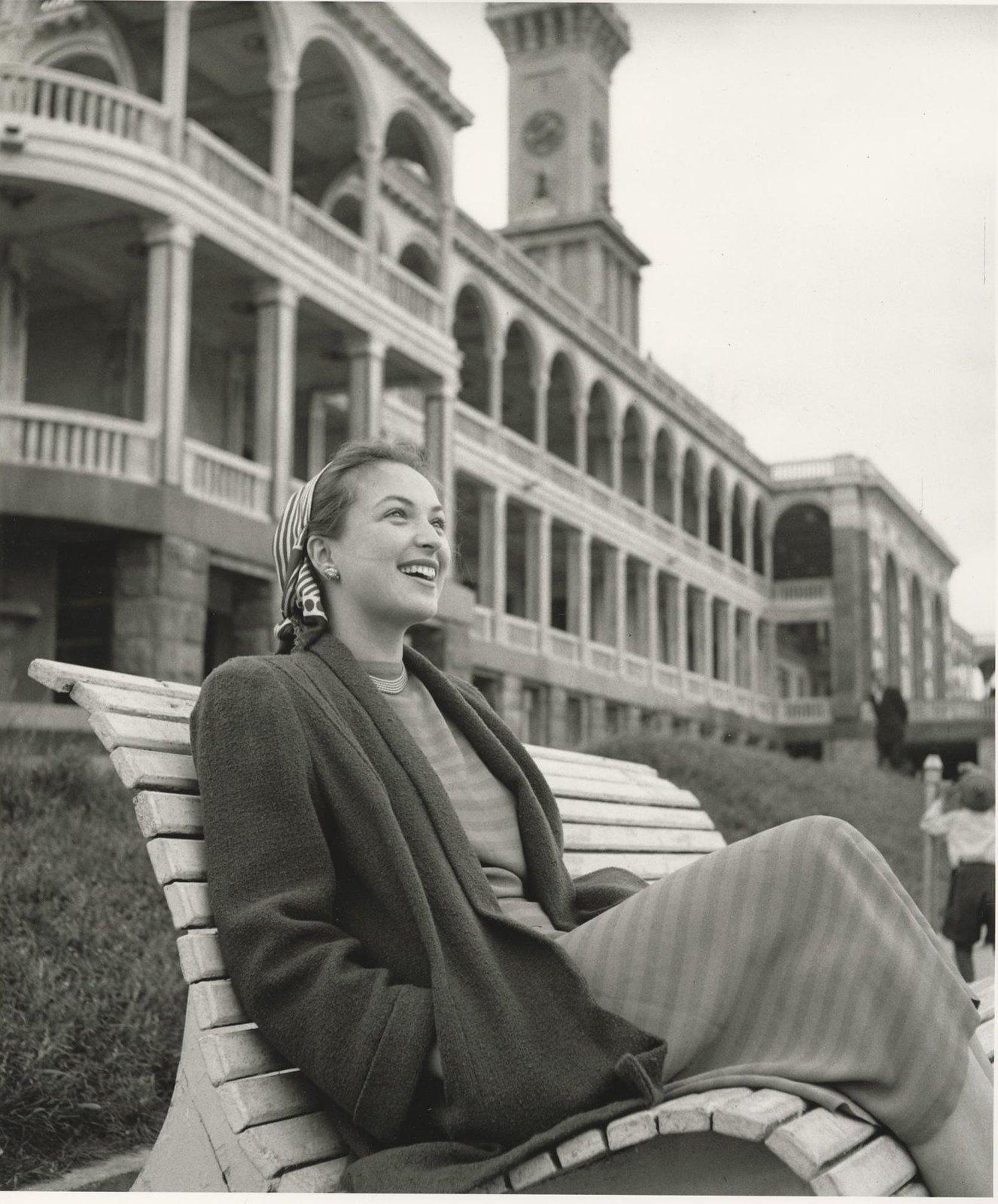 1950-е. Актриса Клара Лучко. Северный речной вокзал