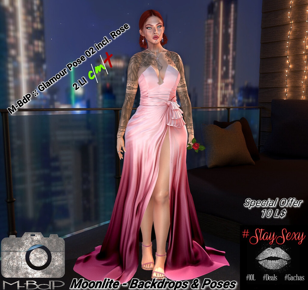 BdP :: Glamour Pose 02 incl. Roseprop @ StaySexy Event