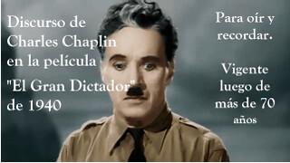"""Para recordar: El discurso de Chaplin en """"EL Gran Dictador"""" de 1940"""