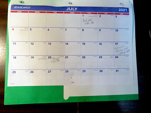 July 2021 Paper Diary