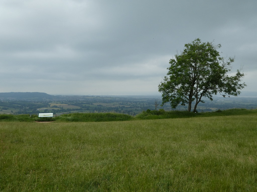Coaley Peak viewpoint, near Stroud, Gloucestershire
