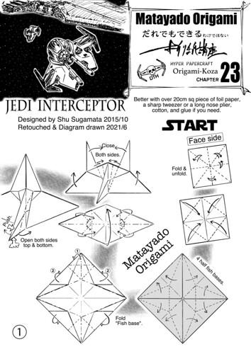 Jedi Interceptor origami diagram