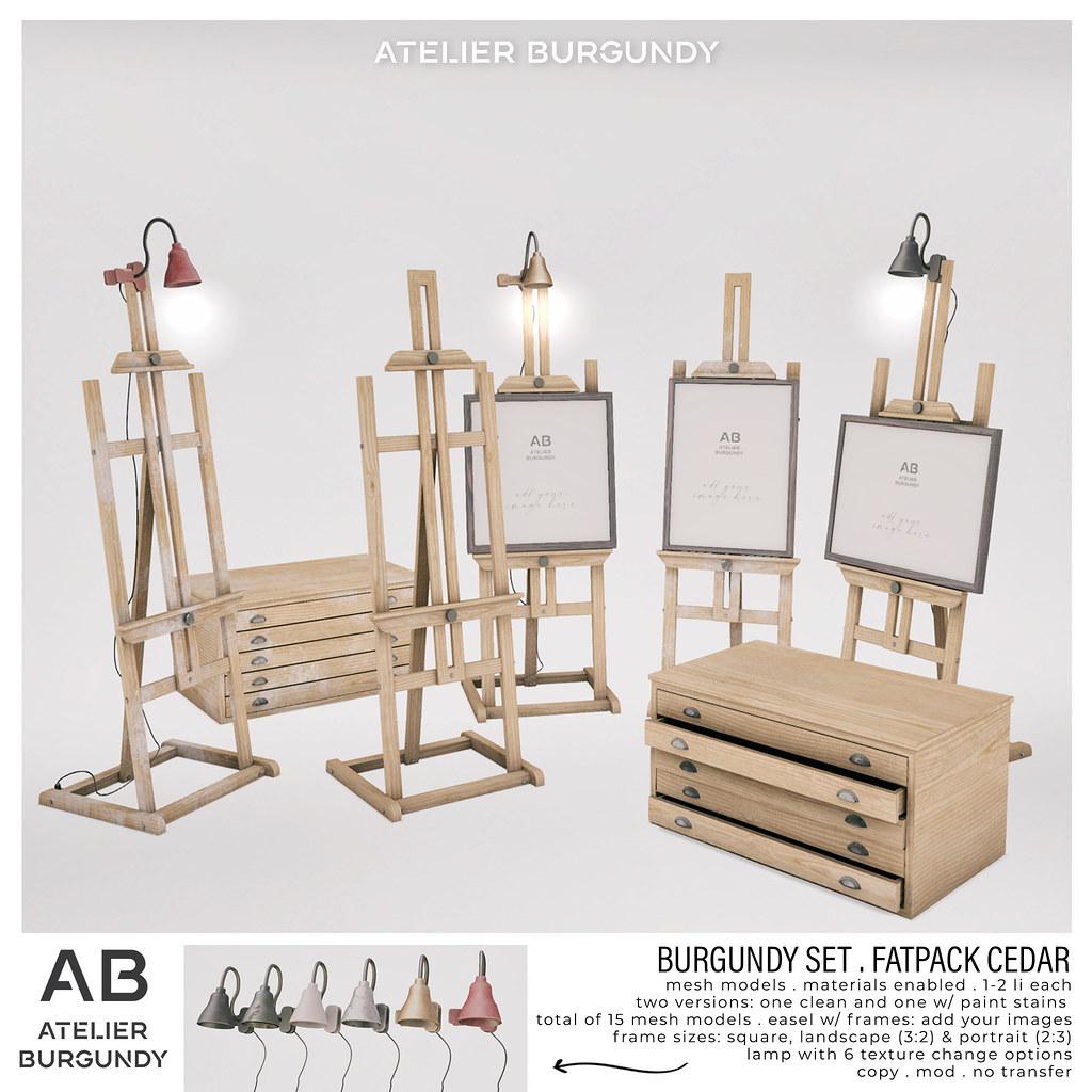 Atelier Burgundy . Burgundy Set Fatpack Cedar