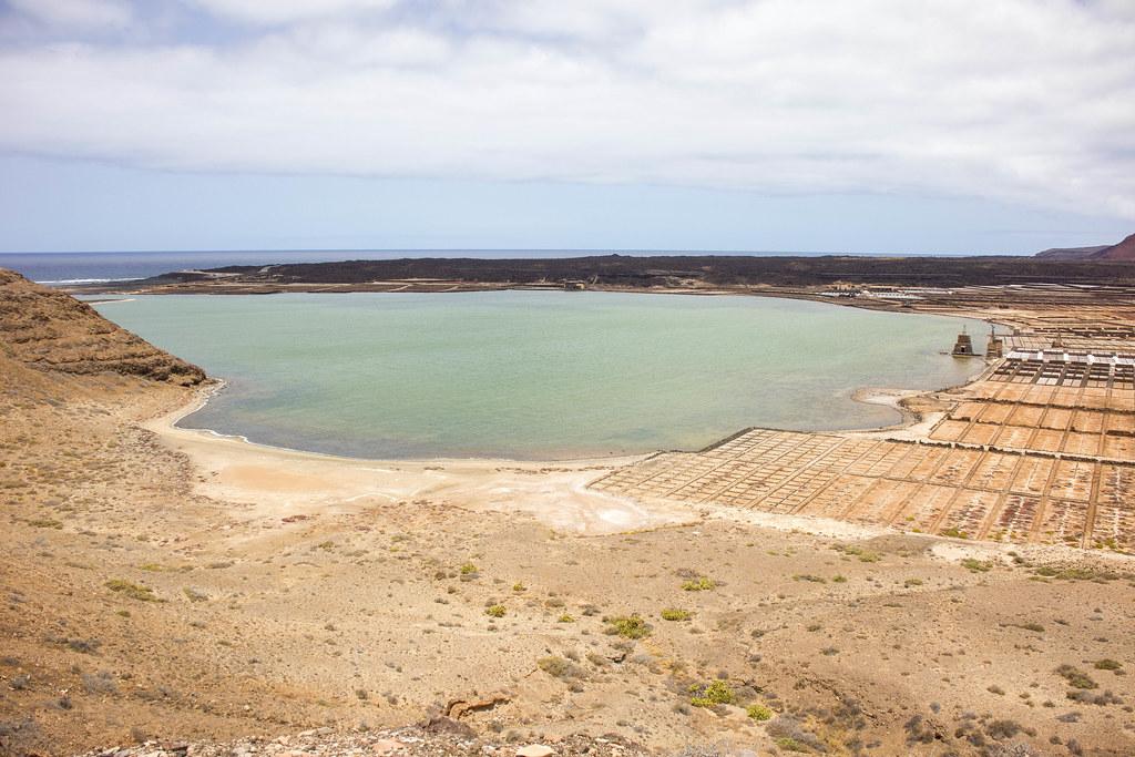 Laguna de Janubio en Lanzarote