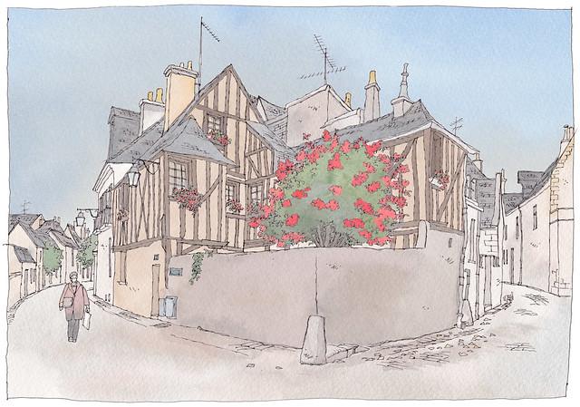 France, Tours, rue Racine