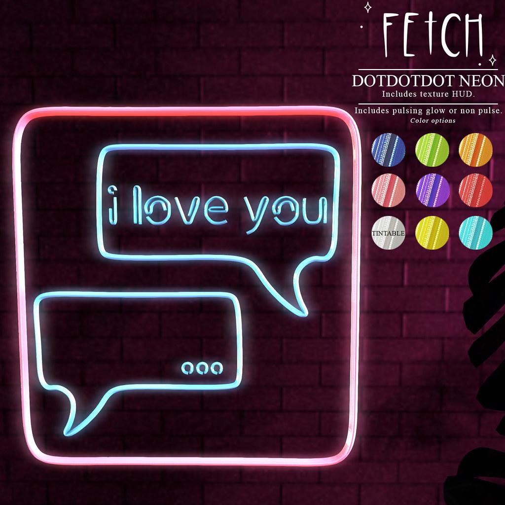 [Fetch] Dotdotdot Neon @ Fifty Linden Friday