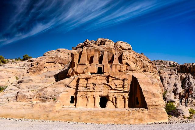 Obelisk Tomb, at Petra - Jordan.
