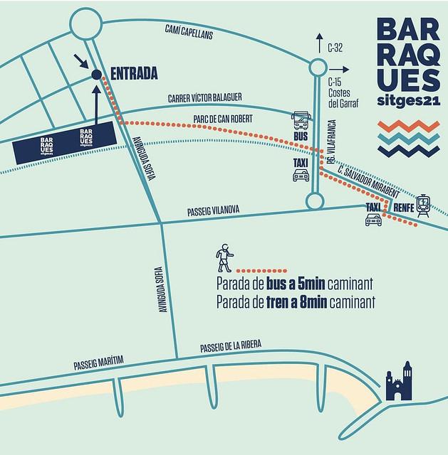 Mapa Barraques Sitges