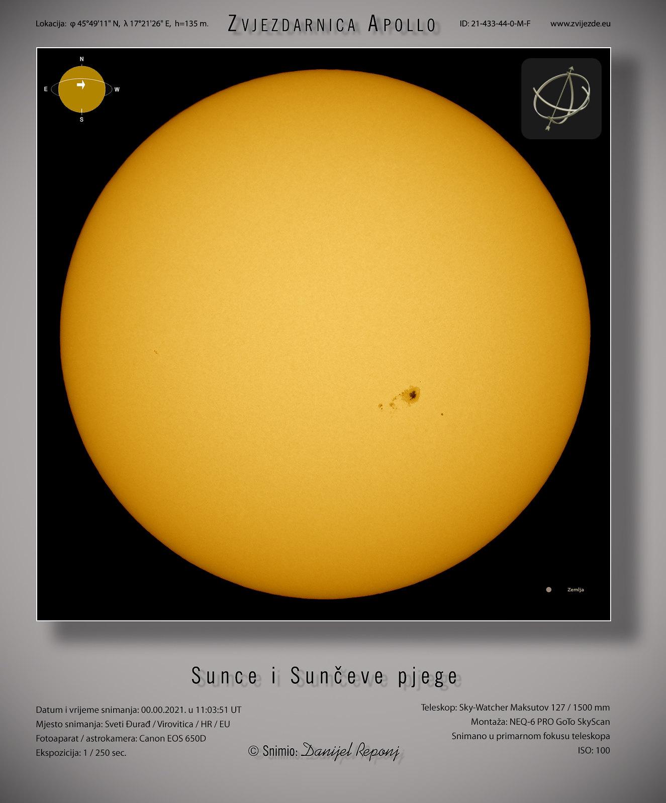 Sunce i Sunčeve pjege, 1.7.2021.