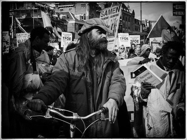 Anti Racism demonstration March 21, 2015 photo taken at the Rokin Amsterdam center