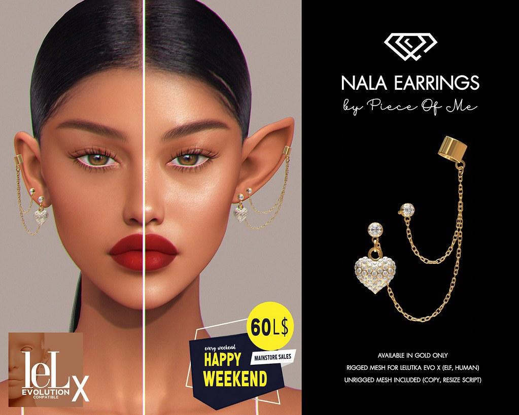 New Release!! Nala Earrings Set for HW (July 3-4) @ Mainstore