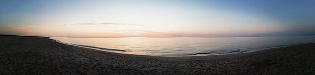 Panoramique de la plage de Sainte Marie au levant