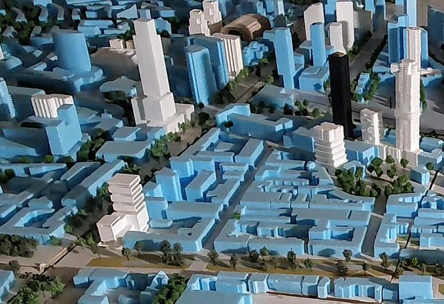 Maquette nieuwbouw Westblaak