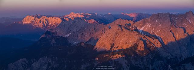 Sunset light at Karwendel and Wetterstein