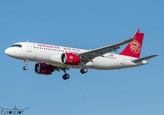 F-WWTV / B-324D Airbus A320-271N Juneyao Air s/n 10498 - First flight * Toulouse Blagnac 2021 *