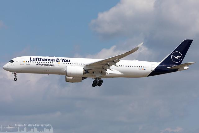 D-AIXP Lufthansa Airbus A350-941 'Lufthansa&You #TogetherAgain' sticker (FRA - EDDF - Frankfurt)