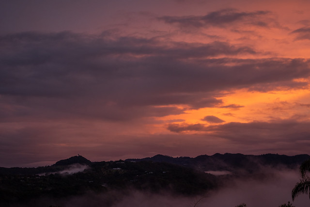 Sunset Over Hills and Dales