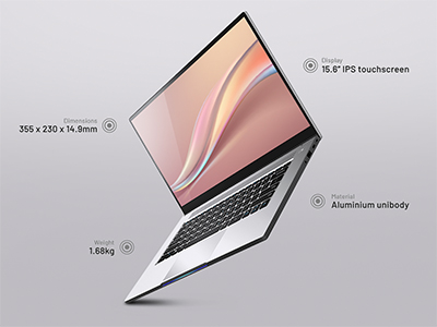 The new Dreambook Touch 15 productivity laptop from Dreamcore.