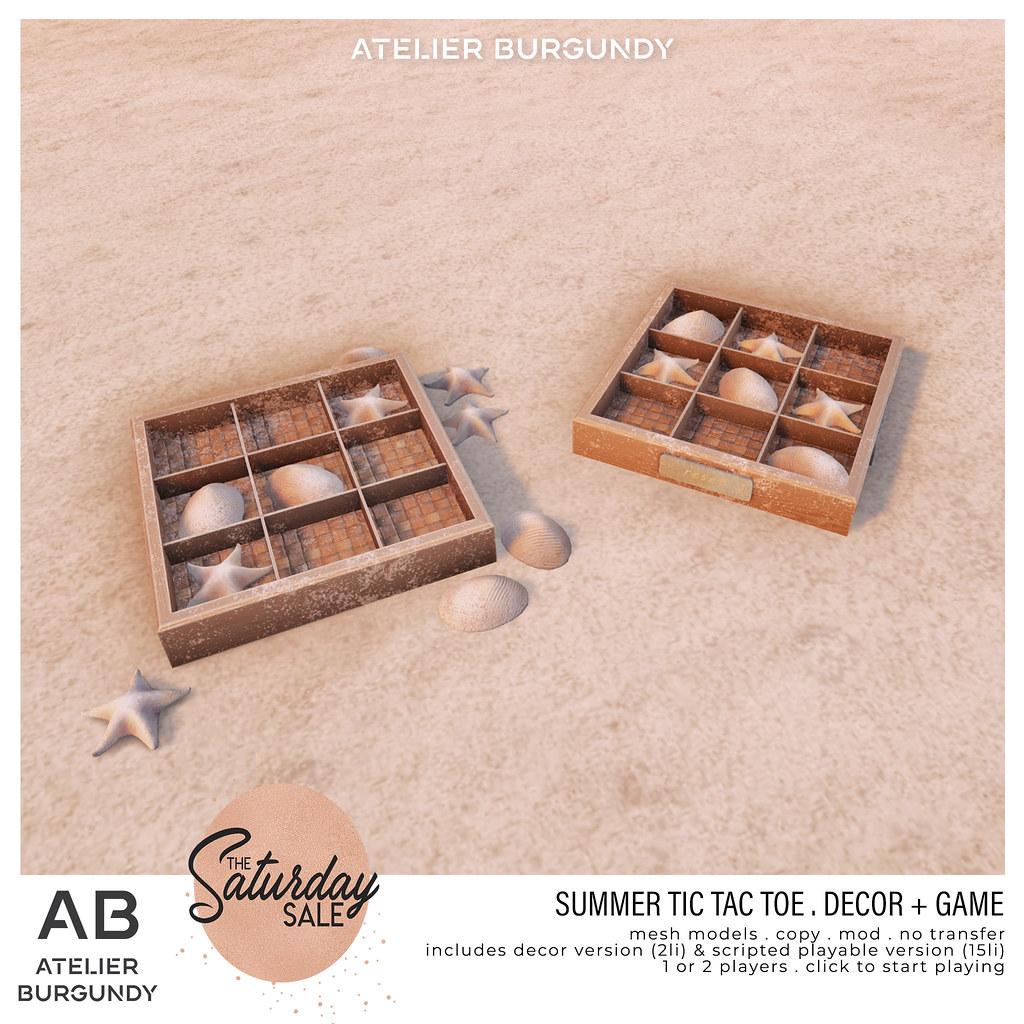 Atelier Burgundy . TicTacToe Summer TSS