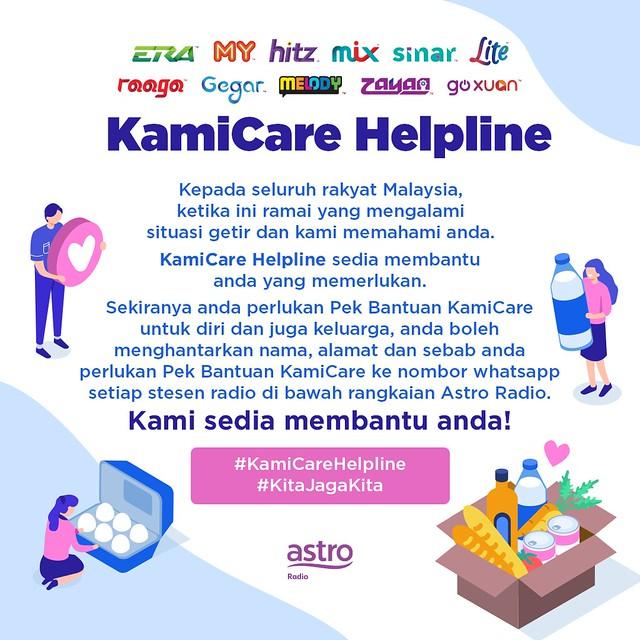 Astro Radio Mengaktifkan Kami Care Helpline Untuk Membantu Rakyat Malaysia