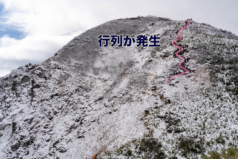 雨飾山の行列