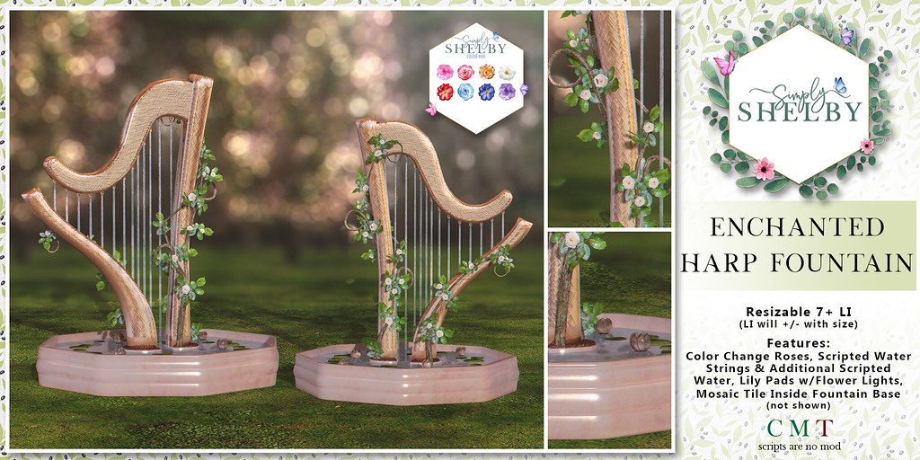 Simply Shelby Enchanted Harp Fountain